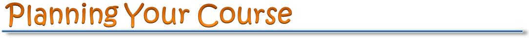 Creating a course plan